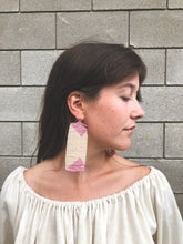 Salihah Moore Sasha Earrings / Peach + Lilac