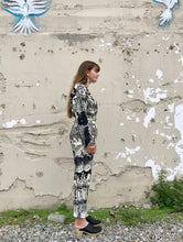 Rachel Comey Glitch Jumpsuit / Black Chatter Viscose Lino