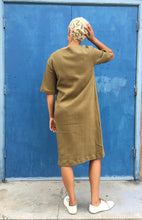 Sunja Link Olive Cotton Dress