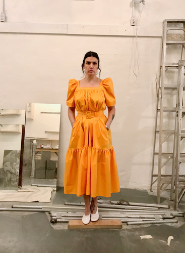 Mr Larkin Ode Dress / Bright Orange