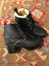 No.6 Lander Lace Up Shearling Boot - Ink Aviator/Black Base