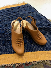 No.6 Aimara Woven Clog on High Heel / Palomino/Brown Base