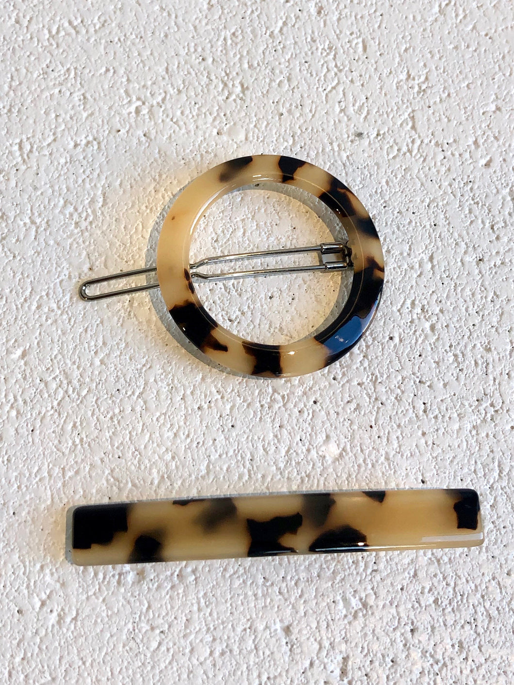 Circle & Slim Clip Set / Different Colours