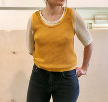 Eve Gravel White Squall Top / Sunflower