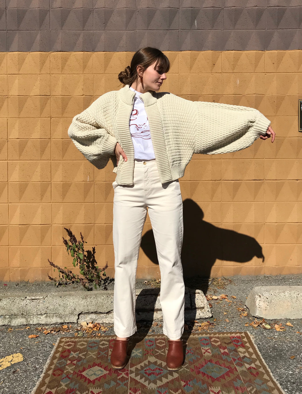 I Love Mr Mittens Maxi Balloon Bomber Wool / Cream