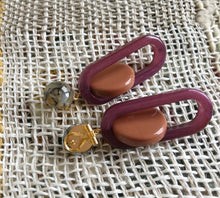 Lohr Earring / Burnt Orange-Purple Marble