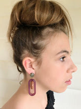 Rachel Comey Lohr Earring / Burnt Orange-Purple Marble