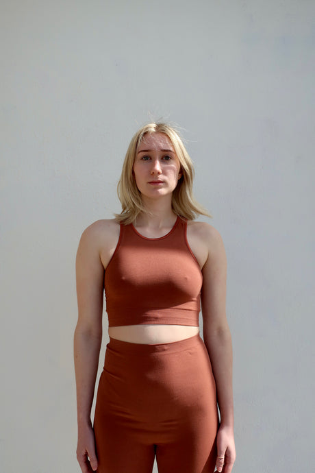 Baserange High Neck Bra / Rust