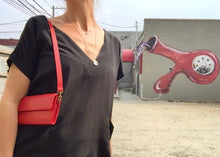 VereVerto Ado Bag in Cherry vegetable dyed leather