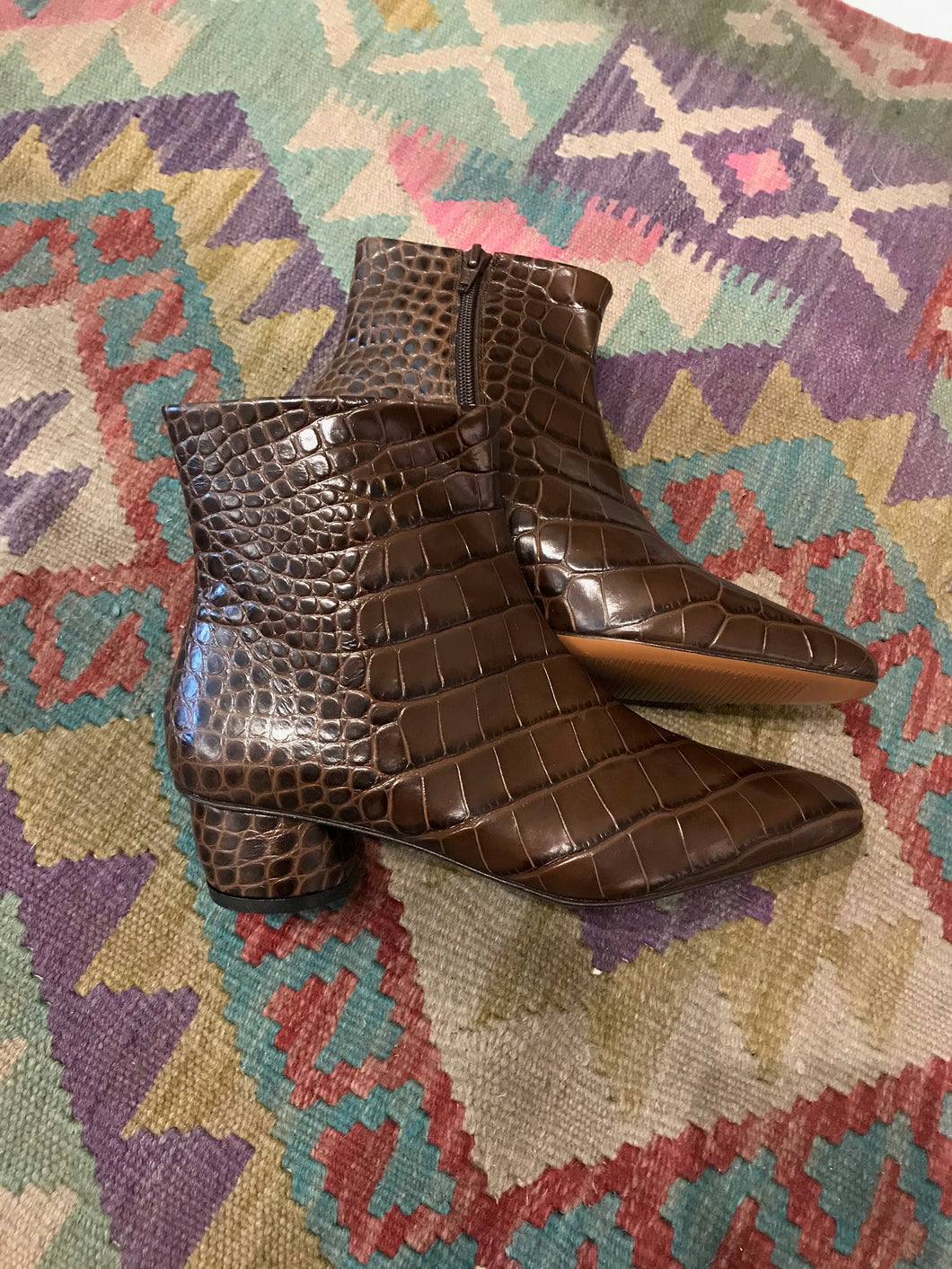 Loq Matea Leather Boot / Bombón Croc