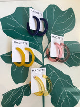 Machete Form Hoops / Parisian Blue - Peony - Lemon and Yellow