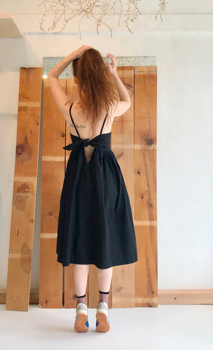 Toit Volant Tournesol Bow-Tie Back Dress / Black
