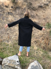 Lauren Manoogian Long Shawl Cardigan / Black Melange