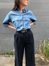 Stateside Linen Tailored Wide Leg / Navy