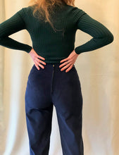 Sunja Link Cord Pants in Smoke and Navy