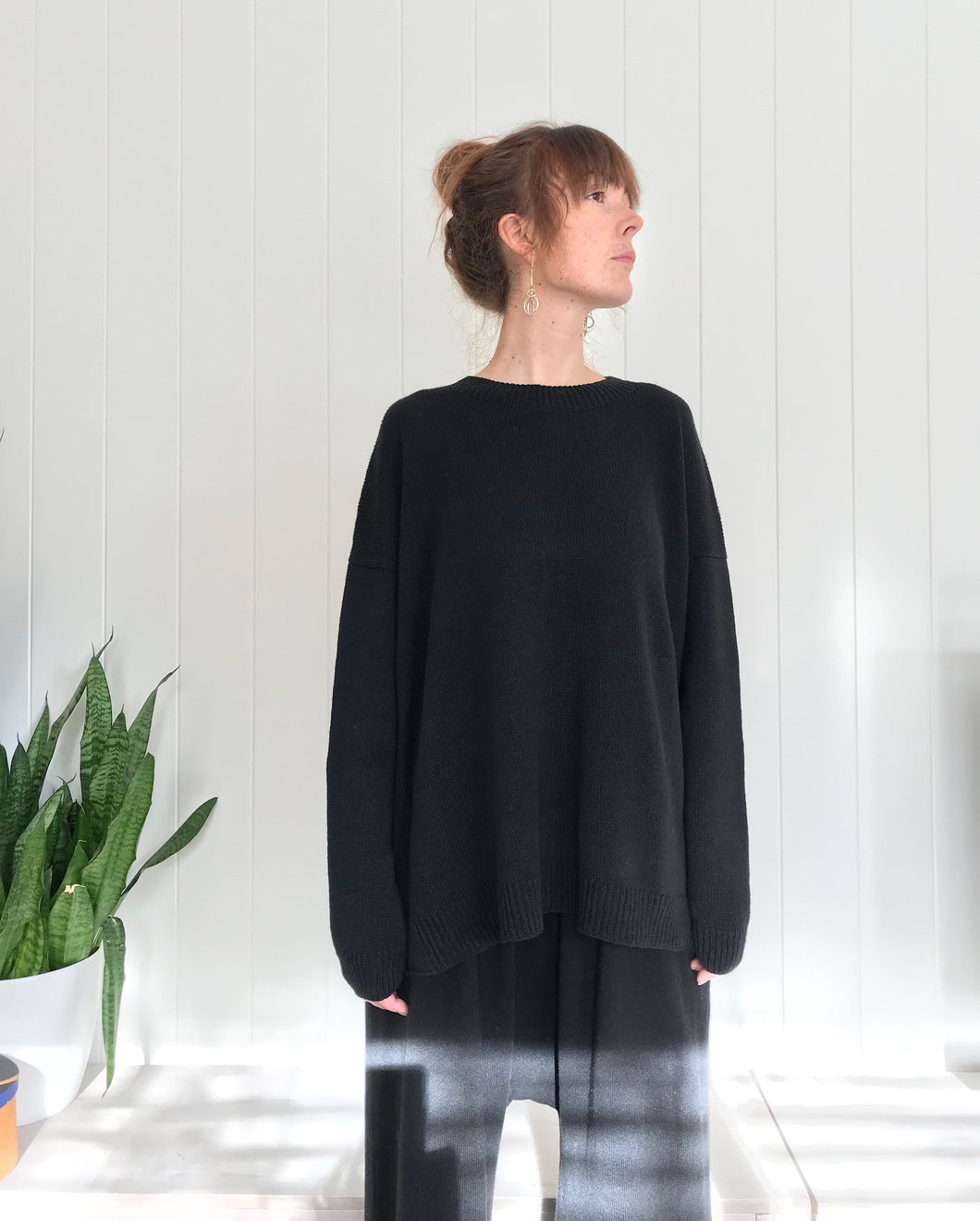 Lauren Manoogian Folk Crewneck / Coal