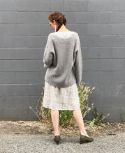 Lauren Manoogian Shaker V Neck / Grey Tweed