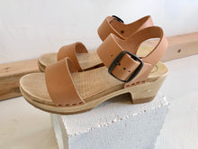 No.6 Two Strap Clog Mid Heel / Naked