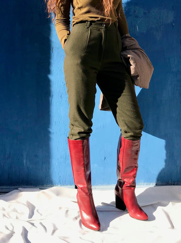 Rachel Comey Zim Knee-High Boots / Bordo