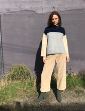 Demylee Sutton Sweater / Navy, Grey & Sand