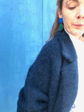 Demylee Parton Coat in Navy Blue