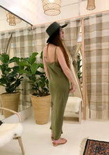 Ozma Long Slipdress / Cupro Avocado