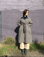 Mijeaong Park Single Breasted Wool Plaid Handmade Coat / Brown