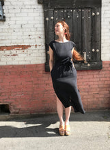 Ozma La Piedra Dress / Black Silk Linen