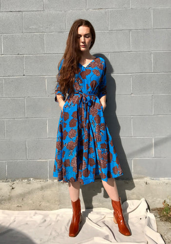 No.6 Winter Eclipse Dress in Electric Blue Faux-Croix