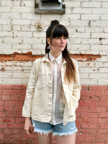 Carleen Triangle Pocket Jacket / Natural