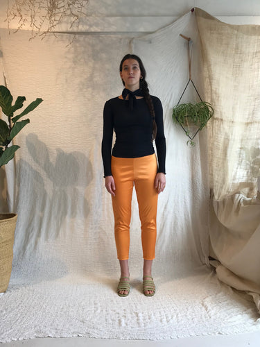 Baserange Marmo Pants / Stretch Silk, Defoe Orange