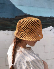 Clyde Mesh Batta Hat / Ochre Open Hole