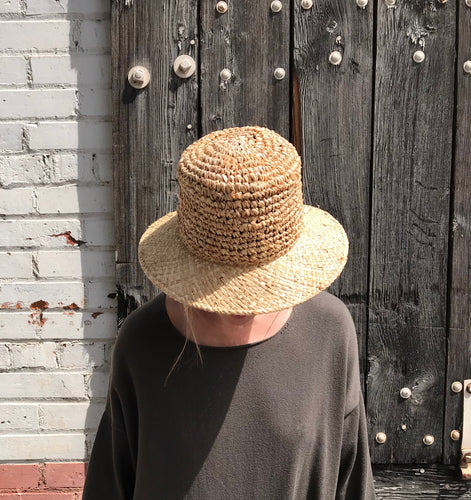 Clyde Toni Hat / Natural Crocheted Straw