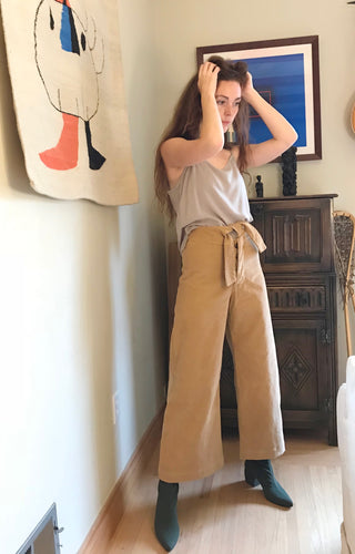 Micaela Greg Corduroy Knotted Sailor Pants / Honey