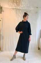 Black Crane Tube Dress / Midnight