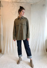 Girls of Dust Deck Shirt Elba Wool / Khaki