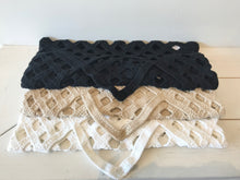 Lauren Manoogian Crochet Grid Bag in Black