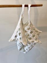 Lauren Manoogian Crochet Grid Bag in Optic White