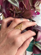 Mercurial nyc Lattice Ring / Gold Vermile