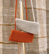 Lisa Crochet Bag / White and Orange