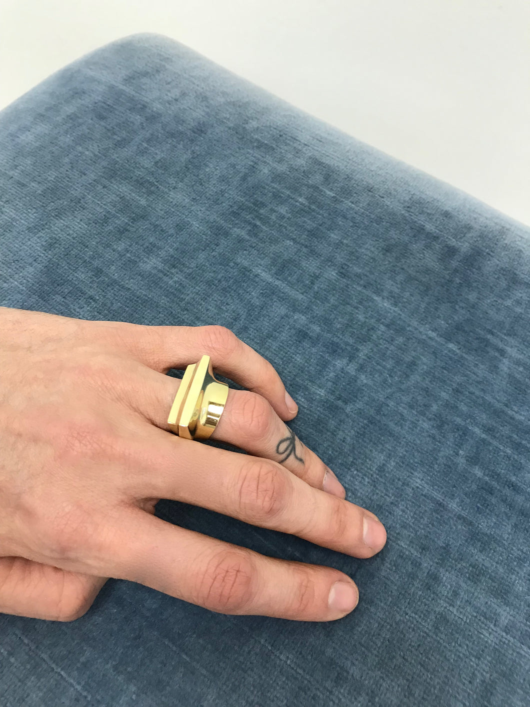 Quarry Toltec Ring in Brass