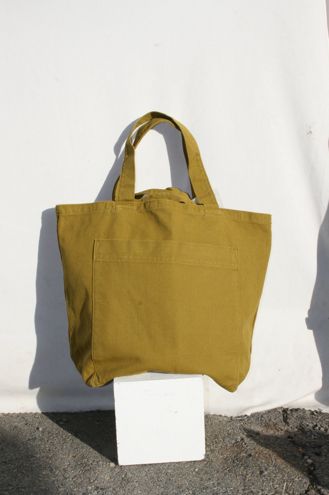BAGGU Giant Pocket Tote / Washed Spanish Olive