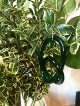 Corey Moranis Knotted Loop Earrings / Green