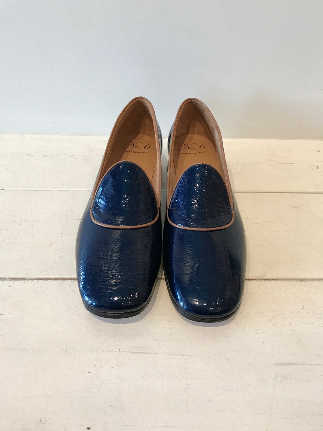 No.6 Remy Slipper in Navy Crinkle
