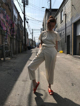 7115 by Zseki Raw Silk Ainsley Wrap Pants / Cream
