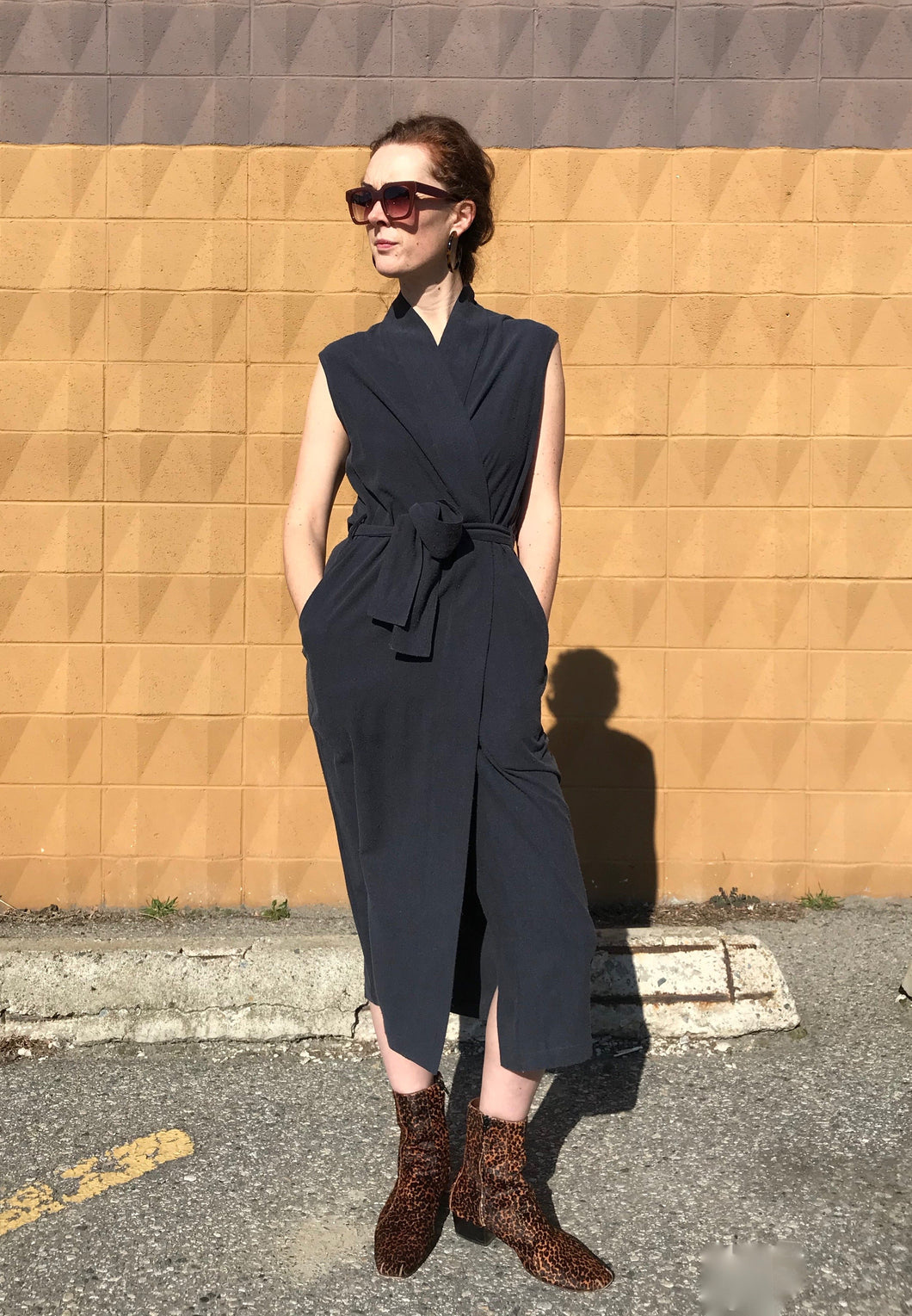 7115 by Szeki Karate Dress / Navy