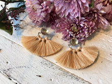 Ora C Odrey Earrings / Silver + Almond