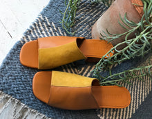 No.6 Leon Slide Butterscotch / Yellow Suede Combo