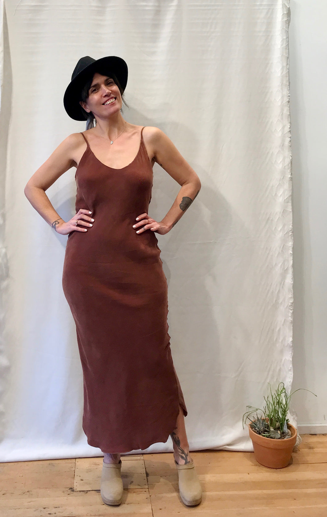 Ozma Long Slipdress / Adobe