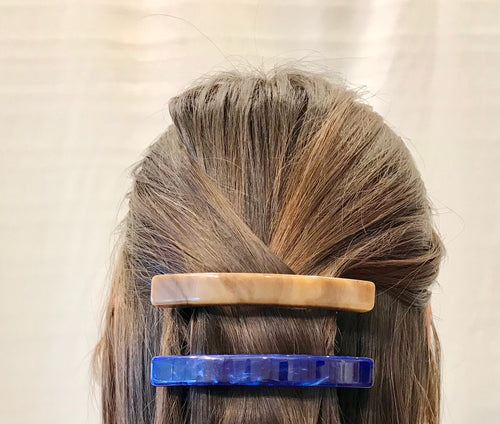 Rachel Comey Pike Barrette Acrylic / Natural and Blue